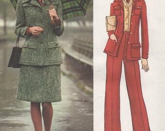 Bust 34-FACTORY FOLDED 1960's Misses' Jacket, Skirt and Pants Vogue Paris Original Pierre Balmain Size 12