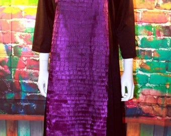 Purple squares tunic dress