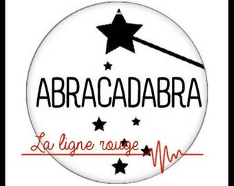 Abracadabra (2898) Magic magician, humor Cabochon with or without stand depending on your choice