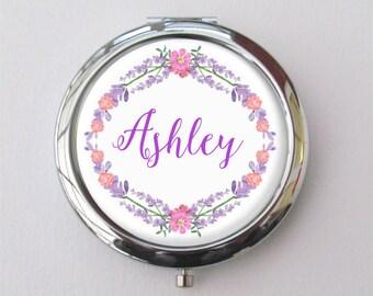 Personalized Bridesmaid Gift, Compact Mirror, Purse Mirror