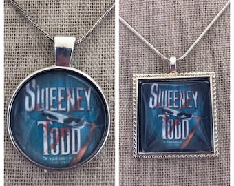 Sweeney Todd Broadway Musical pendant necklace-Sweeney Todd Broadway Musical keychain-Broadway Musical jewelry -Sweeney Todd