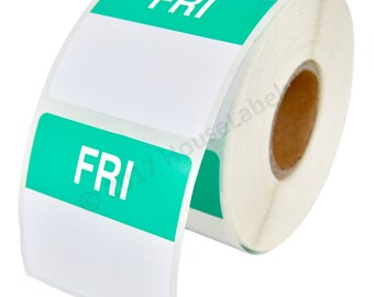 1 Roll of Friday Day of the Week Labels (500 labels/roll, 40mmx40mm) BPA Free!