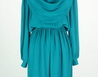 Vintage Teal Coco of California Dress Size M