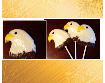 Eagle Scout, Eagle Head Lollipops Customized - Eagle chocolate set of 10