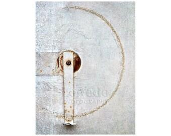 Simple Circle Photo, Paris Photography, Black and White, Shabby Chic, Zen Minimalist, Quiet Contemplation