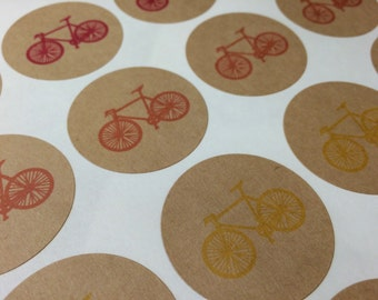 Rainbow Bicycle Stickers - Kraft or White