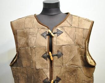 Vintage LAMBSKIN VEST , women's winter vest..............(084)