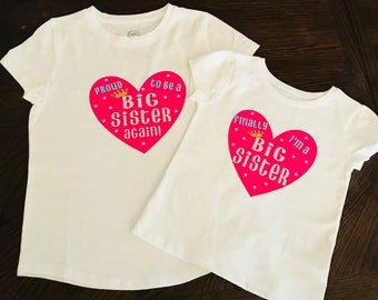 Custom big siblings tshirt
