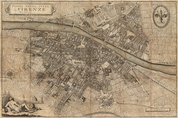 Old map of florence italy 1847 florence map up to 42x56 old map of florence italy 1847 florence map up to 42x56 107x143cm map of firenze old world restoration style italy wall map gumiabroncs Choice Image