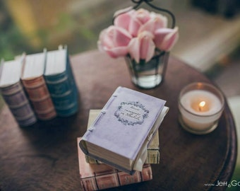 12 unique personalized empty wedding favor boxes / gift boxes / shower boxes like old styled books in 12 colors