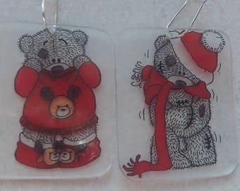 chilly bear earrings