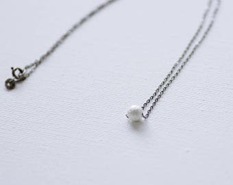 Silver stardust ball necklace, single ball necklace, sliver ball necklace