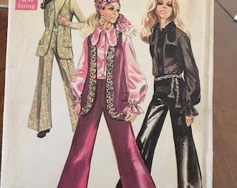 "Vintage 1969 Simplicity Pattern #8520 Size 12 Bust 34"" Waist 25 1/2"" Hips 36"""