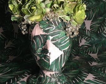 Green Flower & Butterfly Headpiece