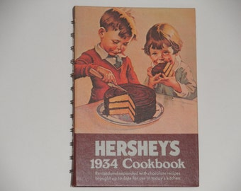 Hershey's 1934 Cookbook - 1983 Edition Revised and Expanded - Chocolate Recipes - Vintage Book