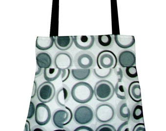 Geometric Patchwork Part-Lined Cotton Tote Bag
