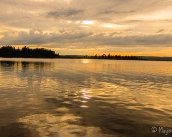 Sunset on Portage Lake, Western Upper Peninsula of Michigan