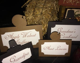 Personalized Thanksgiving Place Cards