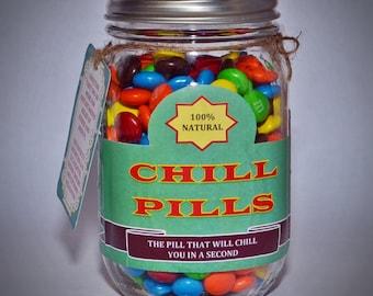 Chill Pill - EMPTY JAR - Best Gag Gift - Funny Gift for Boyfriend, Girlfriend, Gift for Men, Women, Friends - Birthday Gift, Christmas Gift