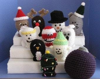 Christmas-Winter Bowling Set Crochet Pattern