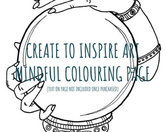 DIGITAL Mindful Colouring Page