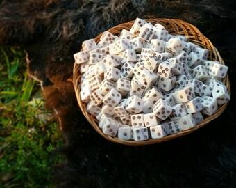 Handmade Bone Die, Viking Dice, Medieval Dice, Carved Dice, Betting Dice