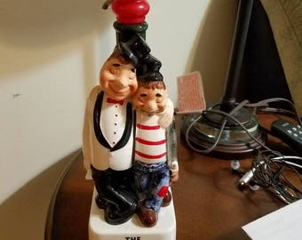 "The jolly twosome "" 1950's Decanter"