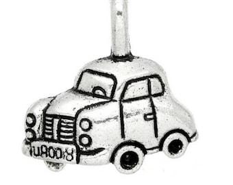 charm Pendant (D63) silver taxi car