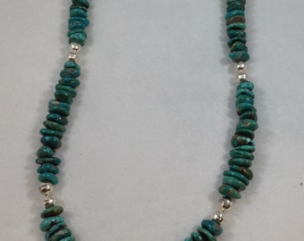 Natural Fox Turquoise Nugget Necklace