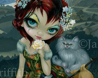 Amanda Palmer Tarot: The Fool art print by Jasmine Becket-Griffith 8x10 white cat deck cards