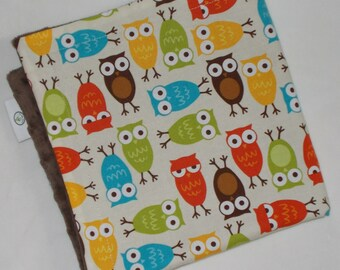 Bermuda Owls Minky Security Blankie Lovey