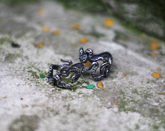 Innsmouth Roots silver ring