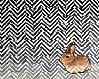 Sweet Bunny - Little Miss Sarah - Print of original illustration