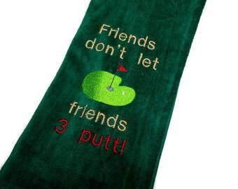 golf towel, funny golf gift, gift for him, golf birthday, groomsman gift, retirement gift, personalize towel, custom golf, embroidery golf
