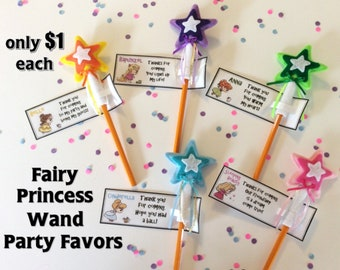 Princess Fairy Wand Pencil Toppers – Birthday Party Favors For Girl