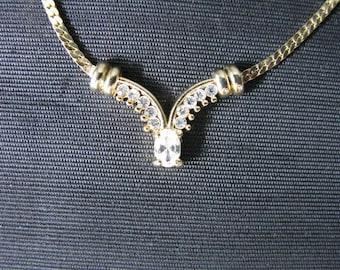 Rhinestone necklace v