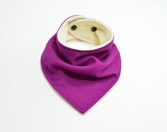 Organic Purple Bandana Bib | Girl Baby Bib | Purple Baby Bib | Trendy Bandana Bib | Girl bandana bib | Girl Bibdana | Girl Baby Shower Gift