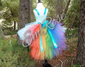 Rainbow Pony Tulle Tutu Dress