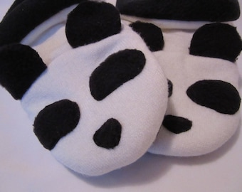 Panda Bear Sweater Slippers - Women's Small - Size 5-6