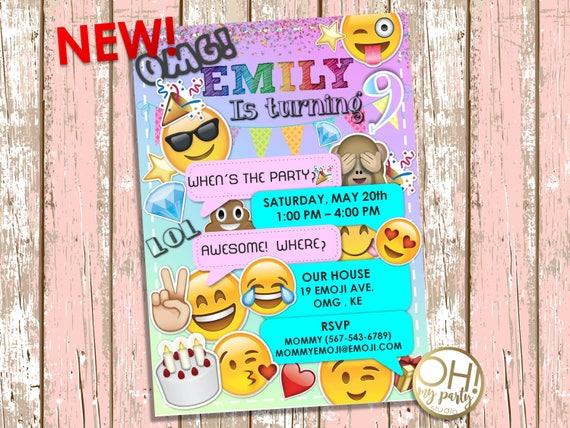 EMOJI-Geburtstags-Einladung Emoji Einladung Emoji