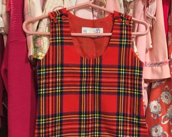 Plaid Jumper Dress 2/3T