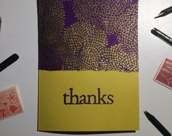 Purple & Gold Thank You Cards