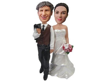Custom wedding cake topper  Personalized cake topper  Wedding topper  Bride and groom cake topper  Mr and Mrs cake topper