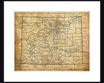 Colorado Map - Print - Poster