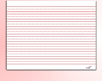Kindergarten Lined Paper  - Handwriting Practice, Educational Teaching Tool for Teachers