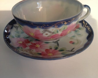 Eggshell porcelain Tea Cups and Saucers, Made in Japan