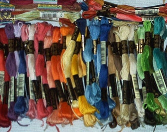 Set of 100 assorted colors DMC Stranded Cotton threads