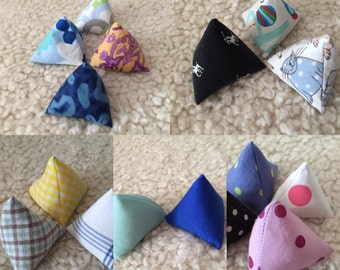 Sew lovely pattern weights, paper weights, triangle weights