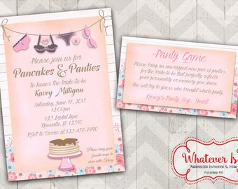 Pancakes & Panties Bridal Lingerie Shower Invitation