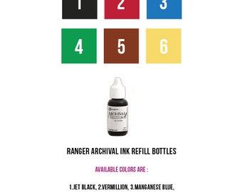 Ranger Archival Ink Refill Bottles